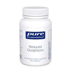 Пониженный Глутатион, Reduced Glutathione, Pure Encapsulations, 120 капсул