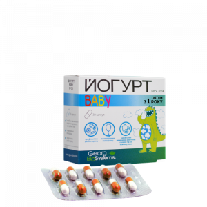 Йогурт Baby, Georg BioSystems, пробиотическое средство для детей от 1 года, 30 капсул