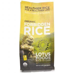 Черный японский рис, Forbidden Rice, Lotus Foods, органик, 426 г