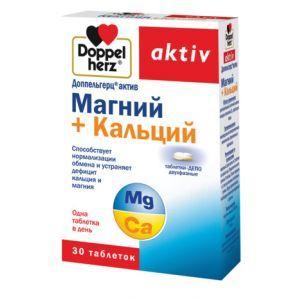 Магний + кальций, Доппельгерц актив, 30 таблеток