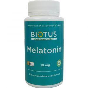 Мелатонин, Melatonin, Biotus, 10 мг, 100 капсул