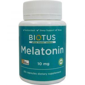 Мелатонин, Melatonin, Biotus, 10 мг, 60 капсул