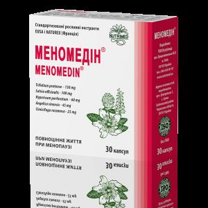 Меномедин, поддержка при менопаузе, Menomedin, Nutrimed, 400 мг, 30 капсул