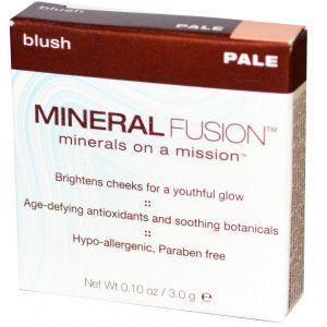 Румяна для лица, Blush, Mineral Fusion, бледная, 3,0 г