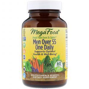 Мультивитаминный комплекс для мужчин 55 +, Men Over 55 One Daily, MegaFood, 60 таб.
