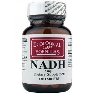Улучшение памяти и работы мозга, Nadh, Ecological Formulas, 5 мг, 120 таблеток