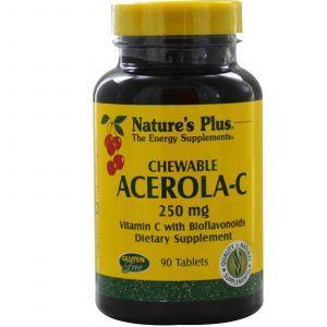Ацерола (витамин-С), Nature's Plus, 250 мг, 90 т