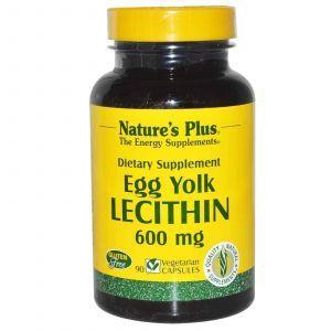 Лецитин, Яичный желток, Nature's Plus, 600 мг, 90 ка