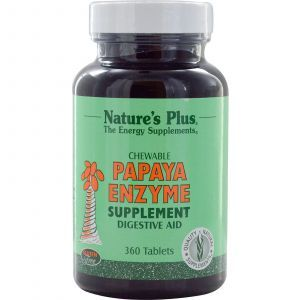 Ферменты папайи, Papaya Enzyme, Nature's Plus, 360 жевательных таблеток