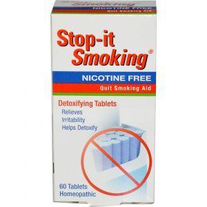 Таблетки от никотиновой зависимости, Stop-it Smoking, NatraBio, 60 таб.