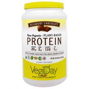 Растительный протеин, декадентский шоколад, Plant-Based Protein, Natural Factors, 972 г