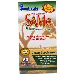 S-Аденозилметионин, The Original SAMe, NutraLife, 60 таблетки