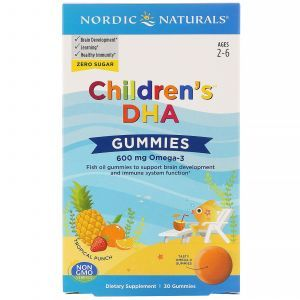 Рыбий жир для детей, Children's DHA Gummies, Nordic Naturals, 600 мг, 30 жевательных конфет