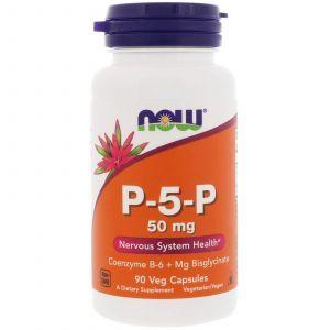P-5-P пиридоксаль-5-фосфат, P-5-P, Now Foods, 50 мг, 90 капсул