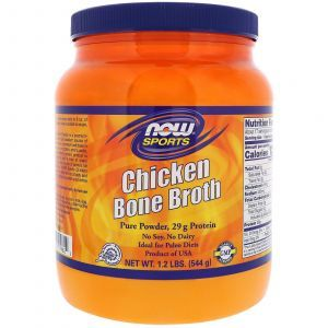Костный бульон со вкусом курицы, Chicken Bone Broth, Now Foods, 544 г