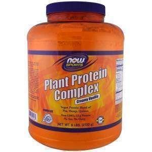 Протеин комплекс растительный, Plant Protein Complex, вкус ванили, Now Foods, 2722 г