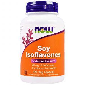 Соєві ізофлавони, Soy Isoflavones, Now Foods, 120 капсул