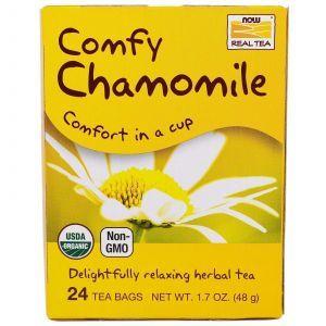 Травяной чай из цветов ромашки, (Comfy Chamomile), Now Foods