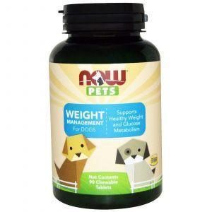 Управление весом для собак, (Weight Management, Dogs), Now Foods, 90 жевательных таблеток