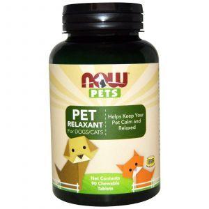 Витамины для животных, (Pet Relaxant For Dogs/Cats), Now Foods, 90 жевательных таблеток