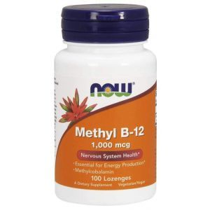 Витамин В12, Methyl B-12, Now Foods, Метил, 1000 мкг, 100 леденцо