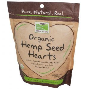 Семена конопли (органик), Now Foods, 277 г