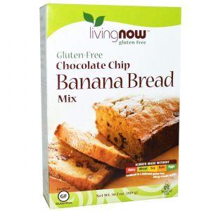 Безглютеновая смесь для выпечки (банан с шоколадом), Now Foods, 289 г.