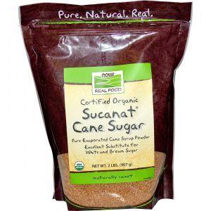 Тростниковый сахар (Sucanat), Now Foods, 907