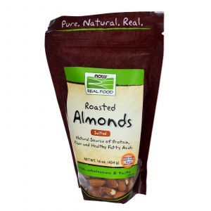 Миндальные орехи (жаренные), Now Foods, 454 г