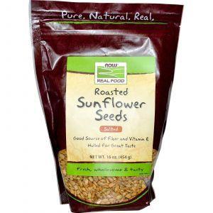 Семена подсолнечника (соленые), Now Foods, 454