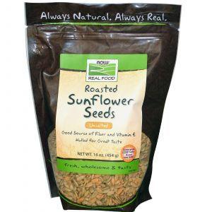 Семена подсолнечника (жареные), Now Foods, 454 г