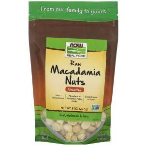 Сырые орехи макадамия, Sunfood, 227 г