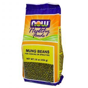 Бобы мунг, Now Foods, 454 грамм
