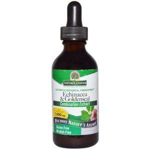 Эхинацея и желтокорень, Echinacea & Goldenseal, Nature's Answer, 1000 мг, 60 мл