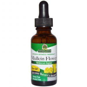 Масло для ушей, Mullein Flower, Ear Oil, Nature's Answer, 30 мл