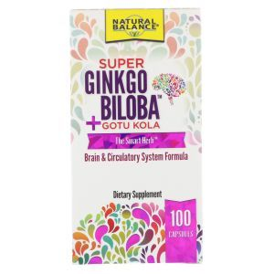 Гинкго билоба + готу кола,Super Ginkgo Biloba + Gotu Kola, Natural Balance, 100 капсул