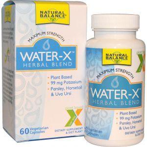 Травяная смесь для выведения жидкости, Water-X, Herbal Blend, Natural Balance, 60 кап.