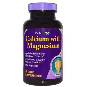 Кальций и магний, Natrol, 120 таблеток