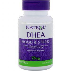 ДГЭА, дегидроэпиандростерон, DHEA, Natrol, 25 мг, 90