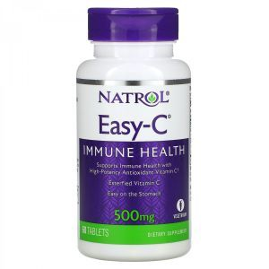 Вітамін С, Easy-C, Natrol, 500 мг, 60 таблеток