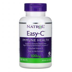 Вітамін С, Easy-C, Natrol, 500 мг, 120 таблеток