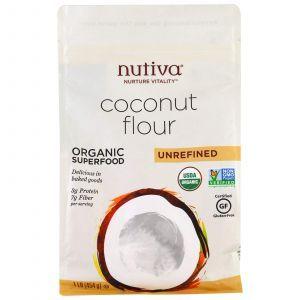 Кокосовая мука, Coconut Flour, Nutiva, нерафинированная, 454 г