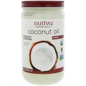 Кокосовое масло, Coconut Oil, Virgin, Nutiva, органик, 680 мл