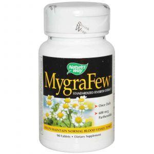 Пиретрум девичий, MygraFew, Nature's Way, 90 таблето