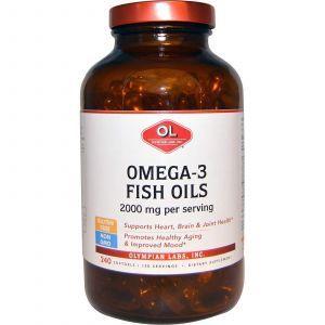 Омега-3 рыбий жир, 2000мг, Olympian Labs Inc, 240 кап.