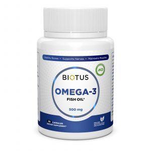 Омега-3 исландский рыбий жир, Omega-3 Fish Oil, Biotus, 60 капсул