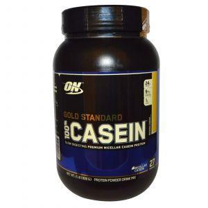 Казеиновый протеин (Casein) банан, Optimum Nutrition, 909 грамм