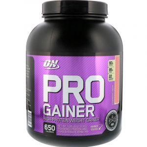 Протеиновая смесь, PRO GAINER, Optimum Nutrition, клубничный крем, 2.31 кг
