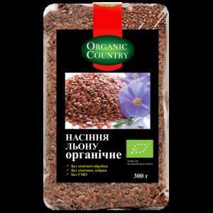 Семена льна, ORGANIC COUNTRY, 300 г
