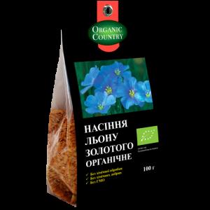 Семена льна, ORGANIC COUNTRY, 100 г